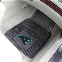 "Carolina Panthers Heavy Duty 2-Piece Vinyl Car Mats 18""x27"""