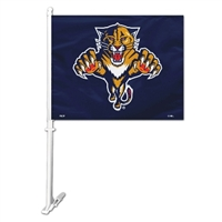 Florida Panthers Car Flag W/Wall Brackett