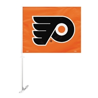 Philadelphia Flyers Car Flag W/Wall Brackett