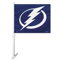 Fremont Die Tampa Bay Lightning Car Flag W/Wall Brackett