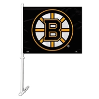 Boston Bruins Car Flag W/Wall Brackett