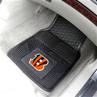 "Cincinnati Bengals Heavy Duty 2-Piece Vinyl Car Mats 18""x27"""