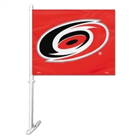 Carolina Hurricanes Car Flag W/Wall Brackett