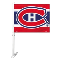 Montreal Canadiens Car Flag W/Wall Brackett