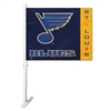 St. Louis Blues Car Flag W/Wall Brackett