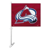 Colorado Avalanche Car Flag W/Wall Brackett