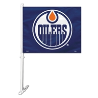 Edmonton Oilers Car Flag W/Wall Brackett