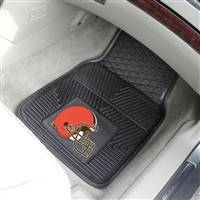 "Cleveland Browns Heavy Duty 2-Piece Vinyl Car Mats 18""x27"""