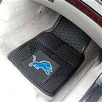 "Detroit Lions Heavy Duty 2-Piece Vinyl Car Mats 18""x27"""