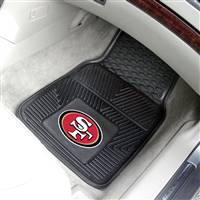 "San Francisco 49ers Heavy Duty 2-Piece Vinyl Car Mats 18""x27"""