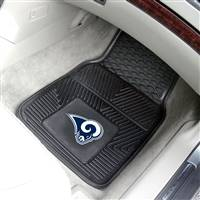 "St Louis Rams Heavy Duty 2-Piece Vinyl Car Mats 18""x27"""