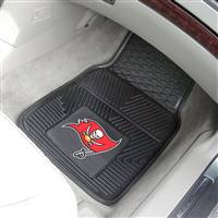 "Tampa Bay Buccaneers Heavy Duty 2-Piece Vinyl Car Mats 18""x27"""