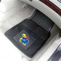 "Kansas Jayhawks Heavy Duty 2-Piece Vinyl Car Mats 18""x27"""