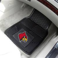"University of Louisville 2-pc Vinyl Car Mat Set 17""x27"""