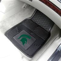 "Michigan State Spartans Heavy Duty 2-Piece Vinyl Car Mats 18""x27"""