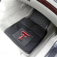 "Texas Tech Red Raiders Heavy Duty 2-Piece Vinyl Car Mats 18""x27"""