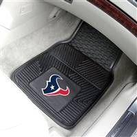 "Houston Texans Heavy Duty 2-Piece Vinyl Car Mats 18""x27"""