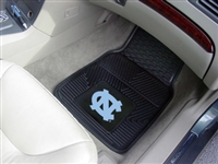 "North Carolina Tar Heels Heavy Duty 2-Piece Vinyl Car Mats 18""x27"""