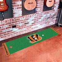 "Cincinnati Bengals Putting Green Runner Mat 18""x72"""