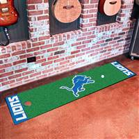 "Detroit Lions Putting Green Runner Mat 18""x72"""