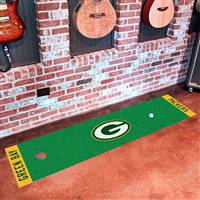 "Green Bay Packers Putting Green Runner Mat 18""x72"""