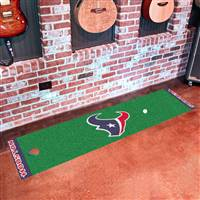 "Houston Texans Putting Green Runner Mat 18""x72"""