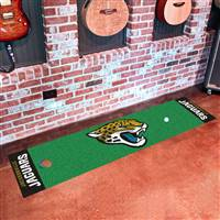 "Jacksonville Jaguars Putting Green Runner Mat 18""x72"""