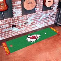"Kansas City Chiefs Putting Green Runner Mat 18""x72"""