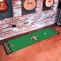 "New Orleans Saints Putting Green Runner Mat 18""x72"""