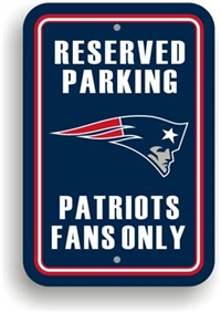 New England Patriots Plastic Parking Sign - Reserved Parking