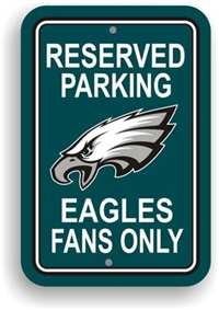 Philadelphia Eagles Plastic Parking Sign - Reserved Parking
