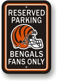 Cincinnati Bengals Plastic Parking Sign - Reserved Parking