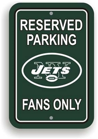 New York Jets Plastic Parking Sign - Reserved Parking