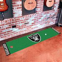 "Oakland Raiders Putting Green Runner Mat 18""x72"""