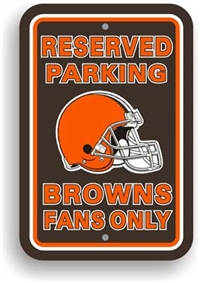 Cleveland Browns Plastic Parking Sign - Reserved Parking