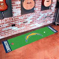 "San Diego Chargers Putting Green Runner Mat 18""x72"""