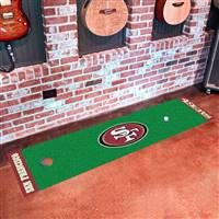 "San Francisco 49ers Putting Green Runner Mat 18""x72"""