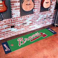 "Atlanta Braves Putting Green Runner Mat 18""x72"""
