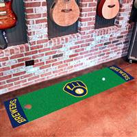 "Milwaukee Brewers Putting Green Runner Mat 18""x72"""