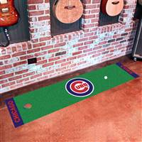 "Chicago Cubs Putting Green Runner Mat 18""x72"""