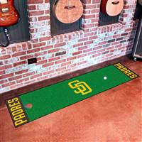 "San Diego Padres Putting Green Runner Mat 18""x72"""