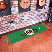 "San Francisco Giants Putting Green Runner Mat 18""x72"""