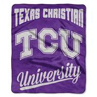 TCU Horned Frogs Blanket 50x60 Raschel Alumni Design