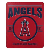 Los Angeles Angels Blanket 50x60 Fleece Southpaw Design - Special Order
