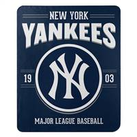 New York Yankees Blanket 50x60 Fleece Southpaw Design