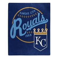 Kansas City Royals Blanket 50x60 Raschel Moonshot Design