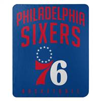 Philadelphia 76ers Blanket 50x60 Fleece Lay Up Design