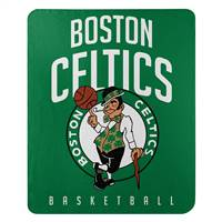 Boston Celtics Blanket 50x60 Fleece Lay Up Design