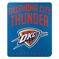 Oklahoma City Thunder Blanket 50x60 Fleece Lay Up Design