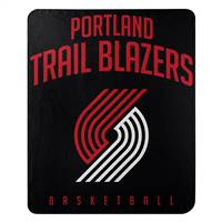 Portland Trail Blazers Blanket 50x60 Fleece Lay Up Design
